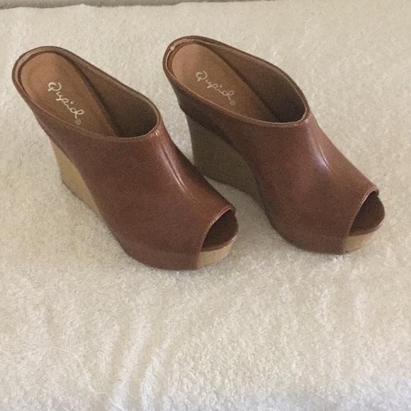 Qupid Shoes   Peep Toe Qupid Platform